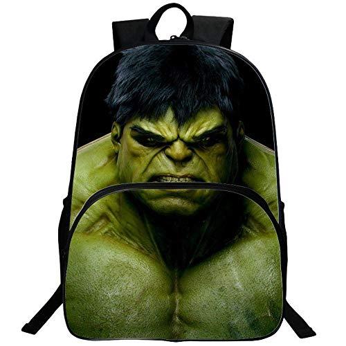 Kids School Backpack Cartoon Hero Hulk Fan Student Schoolbag Teenager Men And Women Casual Travel Laptop Bags A-30 x 16 x 40CM