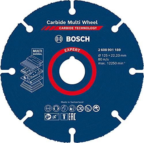 Bosch Professional 1 disco de corte de carburo experto para ruedas (para madera dura, Ø 125 mm, accesorio pequeño amoladora angular)