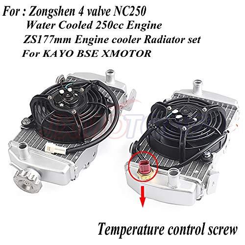 Zongshen 4-ventiel NC250 watergekoeld 250cc motorradiator xmotos apollo waterbak met ventilatoraccessoires Voor KAYO BSE motorfiets