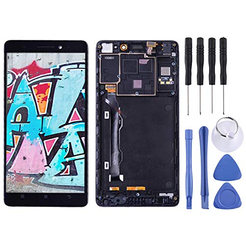 Zhangli Mobile Phone LCD Screen LCD Screen and Digitizer Full Assembly with Frame for Lenovo K3 Note / K50-T5 (Black) LCD Screen (Color : Black)