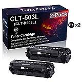 Confezione da 2 cartucce toner compatibili ad alta resa CLT-503L CLT-K503L per stampante Samsung ProXpress SL-C3010DW SL-C3010ND SL-C3060FR