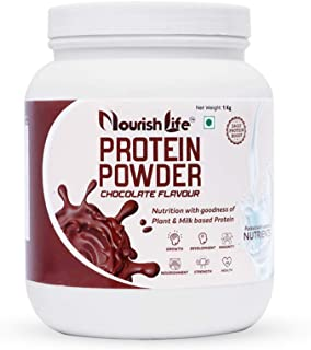 NourishLife Protein Powder | Chocolate Flavour - 1 Kg | Nutrition with goodness of Plant and Milk based Protein