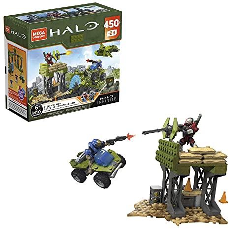 Mega Construx Halo, boîte de construction, 450 pièces et 2 figurines incluses, jeu de briques de construction, 6 ans et plus, GPT03