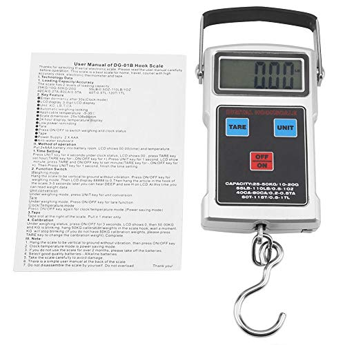 Purchase hongxinq 50KG Portable Electronic LCD Digital Weight Scale with Tape Measure Hook