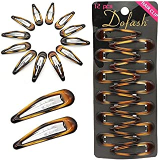 Dofash Epoxy Snap hair clips metal grips 5cm/2in tortoise accessories (Epoxy Tortie)