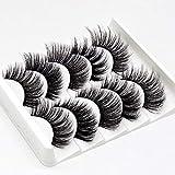 Eyelashes, 5 Pairs of False Eyelashes 3D Mink Hair False Eyelashes Used for Drama Makeup or Daily Use
