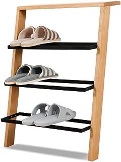 Range-chaussures Porte-chaussures mural en bois massif | Rangement de petites chaussures d'assemblage économique en chêne ...