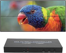 Dpofirs Contrôleur de Mur vidéo LED 12V Videowall 2X2 Splicer, 1x HDMI 4X HDMI Processeur vidéo Haute définition Haute Per...