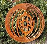 DW Edelrost Windspiel Sonne Garten Spiralen Fenster 18cm Terrasse Kreis Deko Hänger