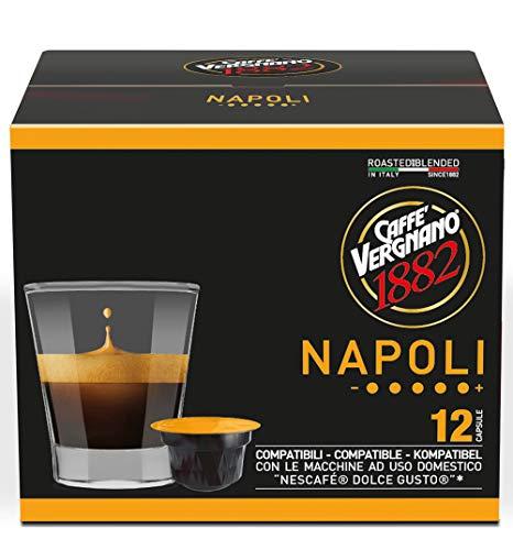 Caffè Vergnano 1882 Capsule Caffè Compatibili Nescafé Dolce Gusto, Napoli - 6 confezioni da 12 capsule (totale 72)