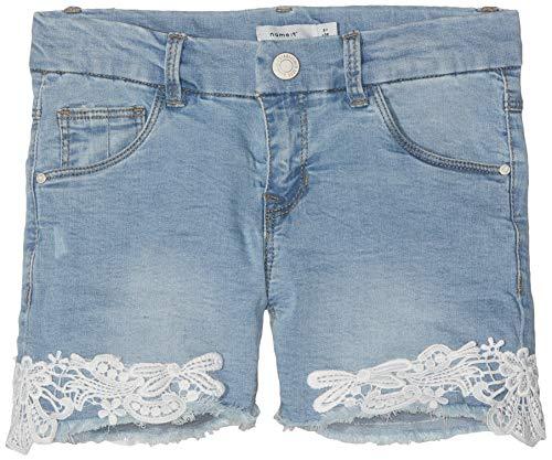 NAME IT Mädchen NKFSALLI DNMBATIRA 2183 Shorts, Blau (Medium Blue Denim Medium Blue Denim), (Herstellergröße: 158)