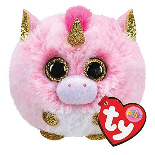 TY 42508 Fantasia Unicorn Puffies Einhorn Plüschtier, Mehrfarbig