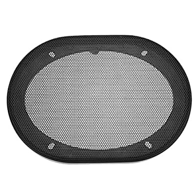 sourcing map Speaker Grill Cover 5x7 Inch Mesh Decorative Square Subwoofer Guard Protector Black from sourcing map
