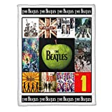 The Beatles Collage Art Music Fleece Blanket (50x60 Inches)