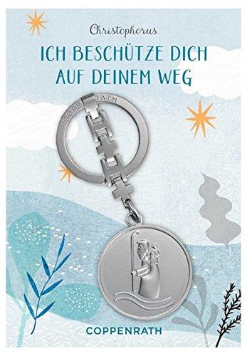 Christophorus-Schlüsselanhänger - Ich beschütze dich auf deinem Weg