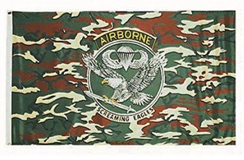 Miltec Drapeau U.S. Airborne 90 x 150 cm Adulte Unisexe, Vert, Taille Unique