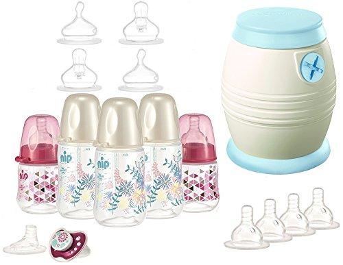 nip Starterset - Alles für den Anfang - Cool Twister, Flaschenset, Saugerset plus Überraschungsgeschenk für Mädchen