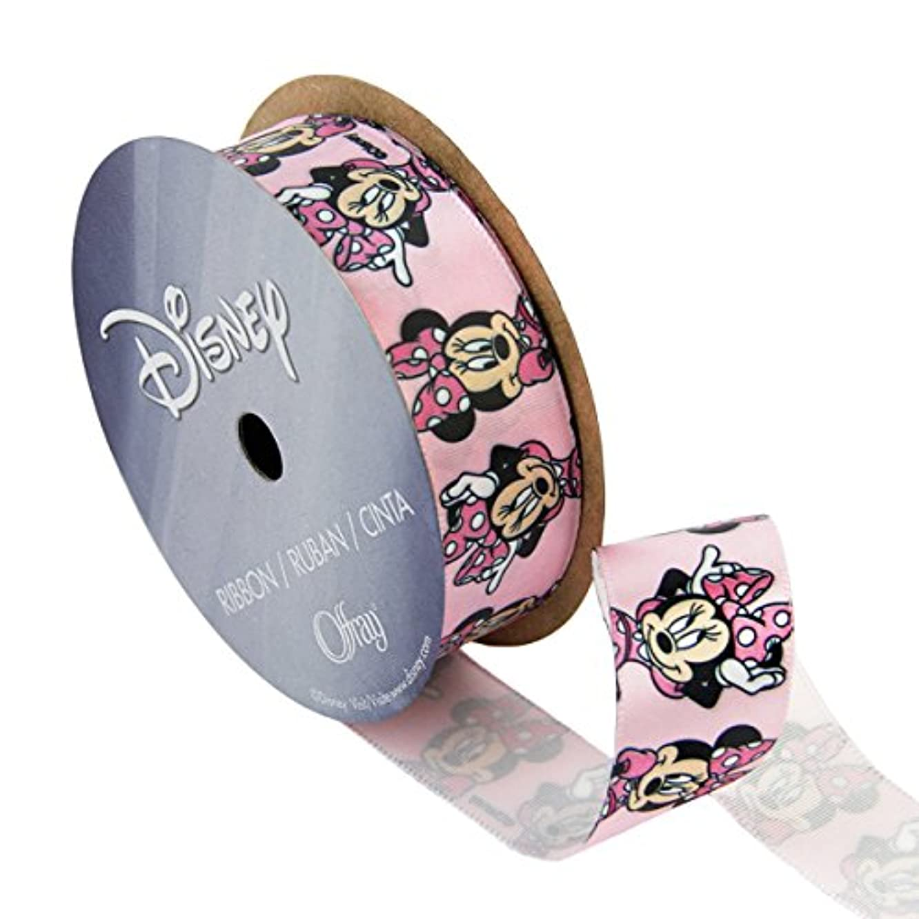 Offray Minnie Mouse Craft Ribbon, 7/8-Inch by 9-Feet, Bow Poses