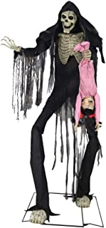 Towering Boogey Man with Kid Animated Halloween Prop Black