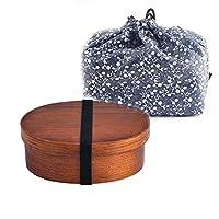 Huangsgoufheランチキット、 ランチボックスとスプーンで木製のランチボックス、ランチボックス、寿司箱、食器と箸 (Color : A6)