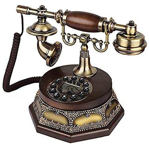 JDJFDKSFH Vintage Estilo Antiguo Estilo Rotary Botón de Escritorio Teléfono Teléfono Teléfono Teléfono Teléfono