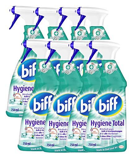 Biff Hygiene Total Badreiniger (für alle Oberflächen) 8er Pack (8 x 750 ml Sprühflasche)