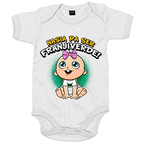 Body bebé nacida para ser Franjiverde Elche fútbol - Blanco, 12-18 meses