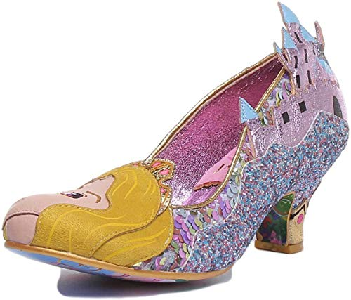 Disney's Dornröschen Damen Pumps Touch The Spindle! 4136-64A (40 EU, Gold Multi)