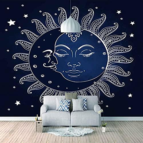FVGKYS Papel Pintado Autoadhesivo Moderna Sol Azul Abstracto Papel Tapiz Sala De Estar Dormitorio Tv Sofá Fondo Pintura De Pared Decoración Del Hogar Murales Personalizado 3D 250x175cm