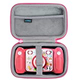 co2crea Hard Travel Case for Victure Kids Camera Digital Rechargeable Selfie Action Camera (Pink Case)