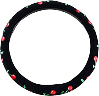 Mayco Bell 2016 Automotive Women Embroidery Cute Car Steering Wheel Cover (Green)