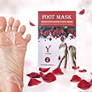 YOUKE Fuß Peeling Maske Peeling High-Effekt Rose 2 Paar In Einer Box, Lassen Füße Haut weich und glatt