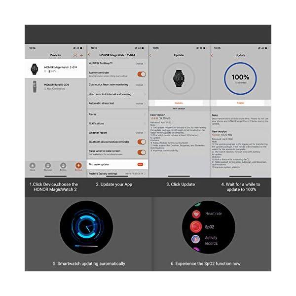 HONOR Smartwatch Magic Watch 2, 46mm Reloj Inteligente con Pulsómetro, hasta 14 días de Batería, 5ATM Waterproof… 8