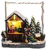 Christmas Concepts® 5'/ 13cm LED Illumina la Scena del mercatino di Natale (Stand per Albero di Natale)