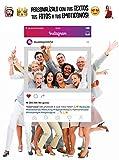 MundoPrint Marco photocall Instagram Personalizado 90x120cm. Regalo Original Ideal para Bodas, cumpleaños, comuniones, Despedidas Soltero/a.…