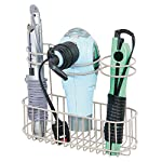 Beauty Shopping mDesign Bathroom Wall Mount Hair Care & Styling Tool Organizer Storage Basket