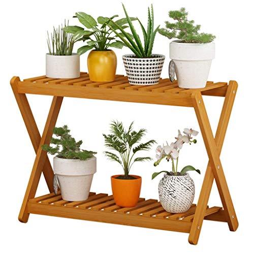 Soporte para maceta de madera maciza para balcón, tipo de suelo multicapa, decoración para decoración de zapatero para sala de estar, baño, balcón