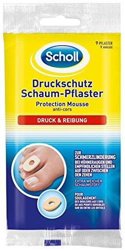 Scholl Druckschutz Schaum Pflaster, 3er Pack (3 x 9 Stück)