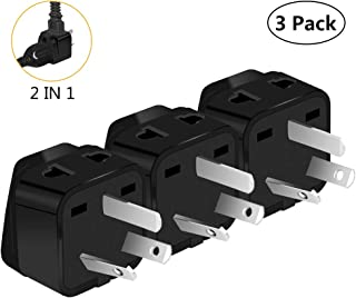 Australia Power Plug Adapter, UROPHYLLA US to Australia Adapter, Type I Outlet Travel Power Adapter Plug for Australia, China, New Zealand,Argentina,Cook Islands,Fiji- 3 Pack & Grounded 2 in 1 [Black]