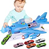 Modelo de juguete Avión Juguete Construir y jugar Ladrillos de juguete para niños Modelo de avión real Pista grande Inercia Juguete para niños Avión de juguete Niño pasajero Set de construcción del a