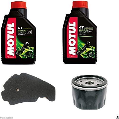 MGM Kit révision pour Piaggio Beverly 500 huile Motul, filtre à air, filtre à huile