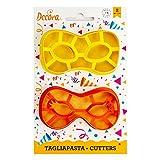 Kit 2 TAGLIAPASTA Arlecchino - Maschera Mascherina di Carnevale Halloween - formine stampi Taglia Biscotti per Creare Fantastici Dolci e decori Torte - Ideale per Decorazioni in Pasta di Zucchero