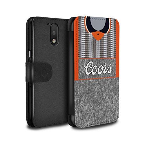 Funda para teléfono móvil de piel sintética, con diseño retro de camiseta equipo de fútbol, piel sintética, Chelsea 1995 Lejos, Motorola Moto G4 2016
