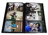 Photo Album 4x6 Holds 300 Photos - Art Portfolio with Protective Poly Case - Space Saver