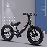 YSCYLY Bicicleta Aprendizaje,Scooter para niños de 12 Pulgadas para 2-6 años con Casco,Rueda De Goma Inflable Bicicleta Sin Pedales