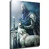 Lienzo para pared para sala de estar, diseño de almas oscuras Artorias, gran espada, lobo SIF, 50,8 x 76,2 cm