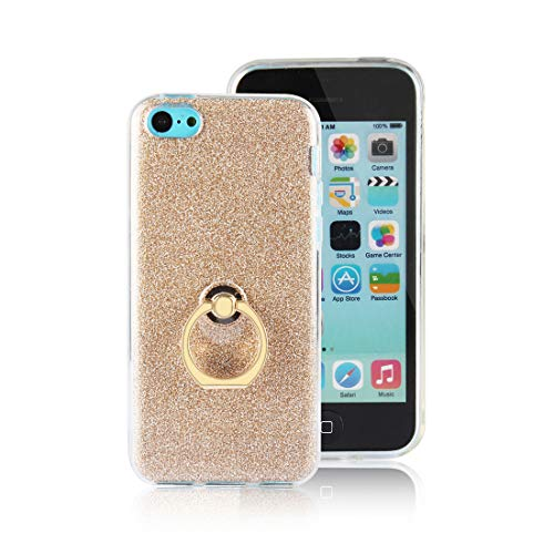 Funda iPhone 5c Carcasa Purpurina, Lyzwn Fundas ultra fina, suave gel de...