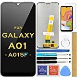 Screen Replacement LCD Display Touch Digitizer Assembly (Black)for Samsung Galaxy A01 2019 A015 SM-A015F SM-A015G SM-A015V 5.7' (Not fit A015M)