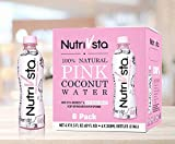 Exclusive and Premium 100% Pure Natural Coconut Pink Juice, No Additives, Contained High Polyphenol Antioxidant Enzymes Comes from Young Thai Ham HOM Coconuts 11.5 Fl Oz (340ml/6) by NutriVsta