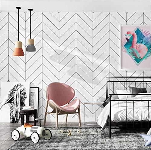 dekoration maison Nordic Schwarz Weiß Streifen tapeten wohnkultur Minimalist Ins Geometrische Tapete für Wohnzimmer schlafzimmer 5.3 ㎡